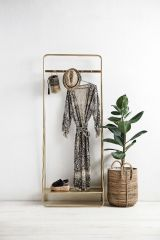 Nordal Dream kledingrek metaal goud 190x75x39