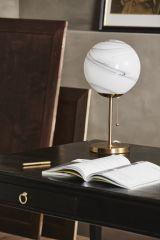 Nordal FAUNA tafellamp marmerlook 49cm