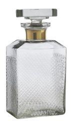 Nordal glazen geslepen karaf met gouden rand 1 liter
