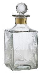 Nordal glazen geslepen karaf met gouden rand 400 ml