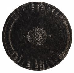 Nordal GRAND karpet rond zwart/grijs 240cm