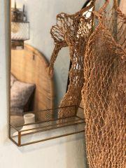 Nordal hangende wandspiegel goud 50x35
