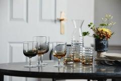 Nordal JOG witte wijnglazen transparant / amber 6 stuks