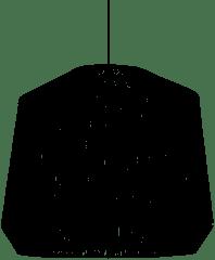 Nordal jute lampenkap zwart Ø50