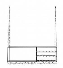 Nordal Loft rek zwart metaal 120x42cm