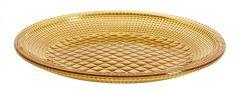 Nordal retro borden amber kleurig 8 stuks