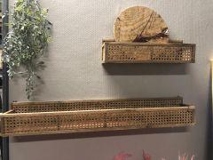 Nordal SHELFI rattan wandplank naturel 46 cm