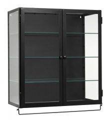 Nordal SIRI wandkast 2 deuren, zwart metaal
