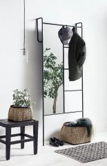 Nordal spiegel / kapstok ijzer zwart 190 x 80