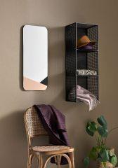 Nordal spiegel rechthoek roze en zwart 76x31 cm