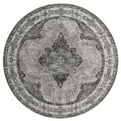Nordal VENUS karpet rond grijs 140 cm