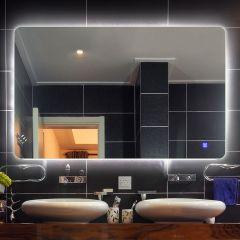 Saniclear Aspen spiegel 100x70cm met LED verlichting en spiegelverwarming