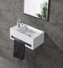 Saniclear Bali solid surface fontein 40x22cm links