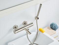 Saniclear Exclusive 304-RVS thermostatische badkraan met handdouche