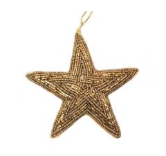 À La kersthanger ster goud