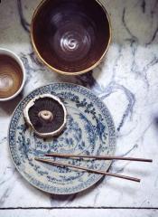 HKliving ceramic Kyoto handpainted plate