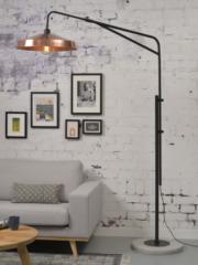 Its About RoMi staande lamp met platte kap ijzer koper