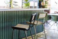 Zuiver counter chair Jort retro rattan groen / naturel ( set van 2 )