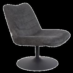 Zuiver BUBBA retrolounge fauteuil donkergrijs