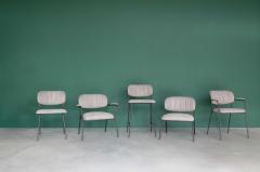 MD Interior loungestoel Jolien met armleuning grijs / zwart - set van 2