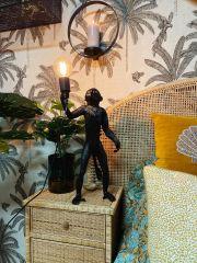 MD Interior staande Aap tafellamp zwart 67 cm