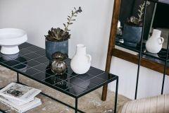 Nordal TAJO salontafel, zwarte tegels | L104 x B42,5 x H40 cm