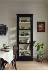Nordal CLASSIC Vitrinekast hout enkele deur zwart wit