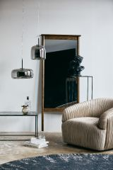 Nordal IRISH hanglamp, grijs metaal, M
