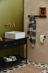 Nordal SOTRA toiletrolhouder metaal zwart