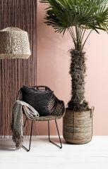 Nordal Bamboe deurgordijn zwart 90x200