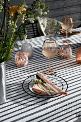 Nordal GOLDIE wijn glas roze met gouden rand