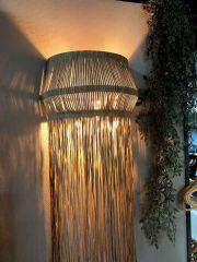 Nordal Fringes wandlamp met franjes beige 91x36