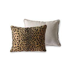 HKliving DORIS cushion flock print panther (30x40)