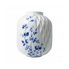 Heinen Delfts Blauw vouw vaas XL