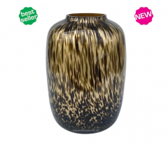 Vase the World Artic large gold cheetah Ø32,5 x H45 cm