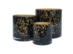 Vase the World Celtic gold cheetah Ø12 x H12 cm 2 stuks