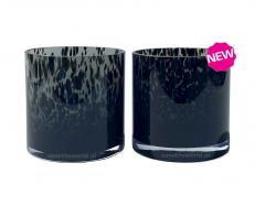 Vase the World Celtic grey cheetah Ø12 x H12 cm per stuk