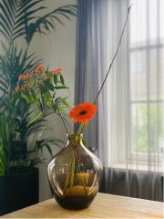 Vase the World Traun brown Ø23,5 x H30 cm