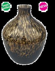 Vase the World Traun brown cheetah Ø23,5 x H30 cm