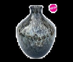 Vase the World Traun grey cheetah Ø23,5 x H30 cm