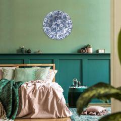 Heinen Delfts Blauw Wandcirkel Hollands Glorie 120  cm