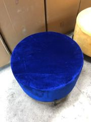 Showmodel - MD Interior poef blauw rond