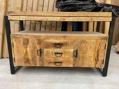 MD Interior Woodz wastafelmeubel 135x80cm ZONDER waskommen