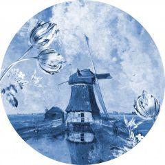 Heinen Delfts Wandcirkel Muurmolen 100 cm