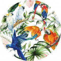 Heinen Delfts Blauw Tropische Vogels 100 cm