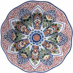 Heinen Delfts Blauw Wandcirkel Polychroom 100 cm