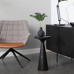Zuiver bijzettafel  Floss - Zwart Ø 28 x 56 cm hoog