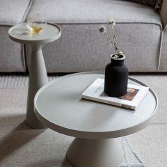 Zuiver salontafel Floss - Grijs Ø 60 x 33 cm hoog