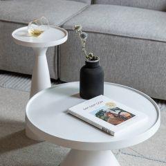 Zuiver salontafel Floss - Wit Ø 60 x 33 cm hoog